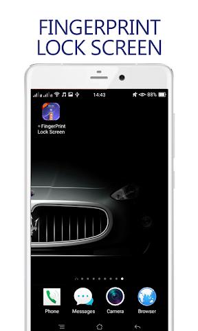android Lock Screen fingerprint prank Screenshot 0
