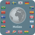 World atlas & map MxGeo Pro icon