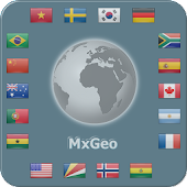 World atlas & map MxGeo Pro