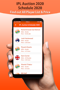 IPL Auction Player Price 2020 & Schedule IPL 2020 1.1 Download APK Mod 3