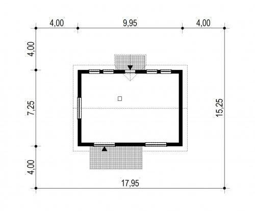 Domek Lipowy szkielet drewniany 020 Jk V2 - Sytuacja