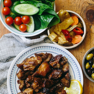 Tigania - Greek Pan-Fried Pork (Gluten-free, Paleo, Primal, Perfect Health Diet, Whole30).