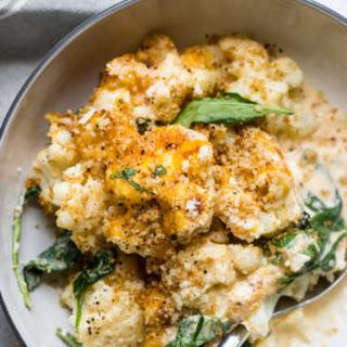 "Cauliflower and Spinach Bake (""Mac"" and Cheese) Recipe"