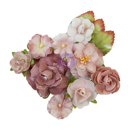 Prima Sharon Ziv Mulberry Paper Flowers 12/Pkg - Mauve Dream