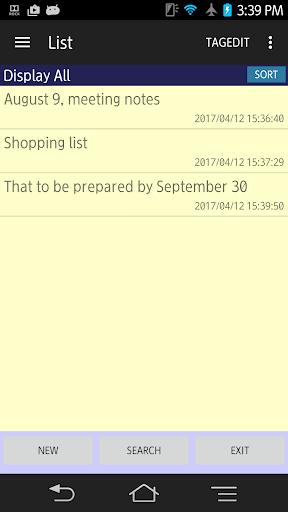 tagMemo free - simple notepad 1.2.0 Windows u7528 2