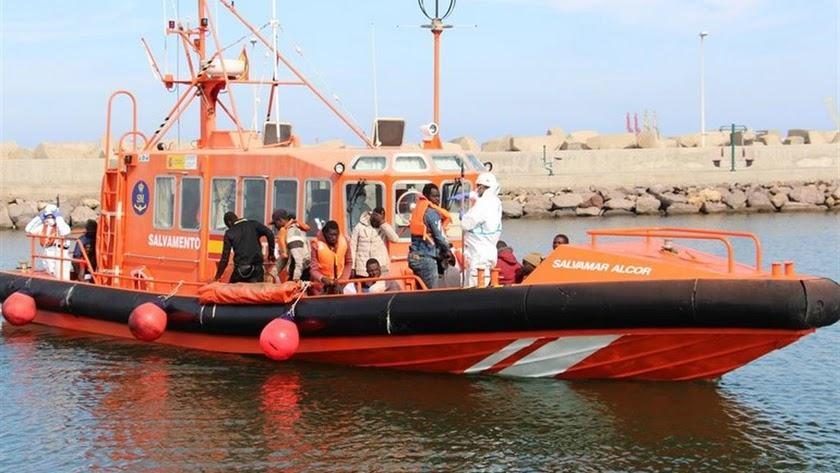 Imagen de archivo de un rescate de Salvamento Marítimo.