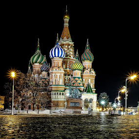 Saint Basil's cathedral by Romano Alberto Basso - Buildings & Architecture Public & Historical ( red square, santo, cattedrale, moscow, basilio, cathedral, basil, saint, nightscape )