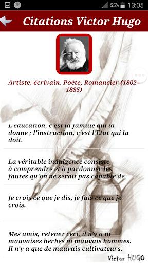 Citations de Victor HUGO screenshot 3