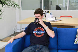 Photo: Craig showing off his latest 'London themed' Geek shirt...