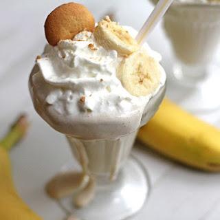 Skinny Banana Pudding Milkshakes
