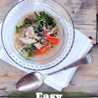 Easy Chicken Soup For The Crock Pot.