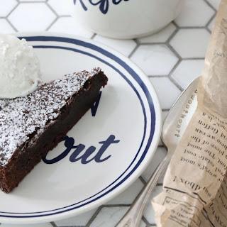Kladdkaka (Gooey, Sticky Chocolate Cake).