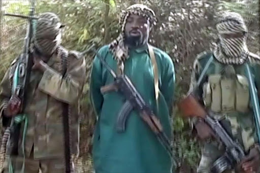 Boko Haram members who kidnapped more than 200 girls 2 months ago. File photo