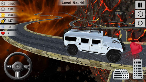 4X4 Jeep stunt drive 2019 : impossible game fun screenshots 4