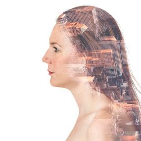 PHX2NYC by Jonathan Stolarski - Digital Art People ( studio, double exposure, model, jill, jill schiefelbein, nyorbust )