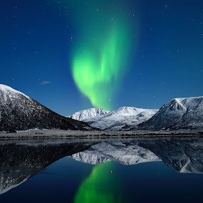 Aurora by Marius Birkeland - Landscapes Starscapes ( reflection, winter, sky, snow, aurora borealis, aurora, night,  )