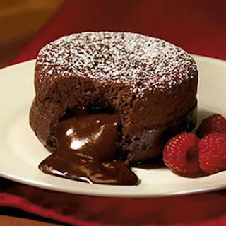 Dark Molten Chocolate Cakes.
