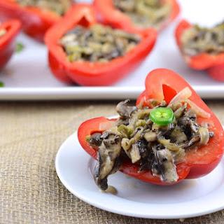 Vegetarian Cheesesteak Stuffed Peppers