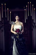 Photo: Gothic Bridal Shoot  Gothic cover story for Today's Bride on newsstands now! Featuring Professional Makeup Artistry by +Maria Chang and beautiful designs by Asiel Design.