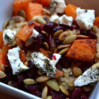 Butternut Squash, Goat Cheese & Cranberry Quinoa Salad