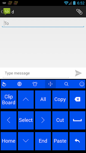Keyboard Theme Tiles Blue for PC