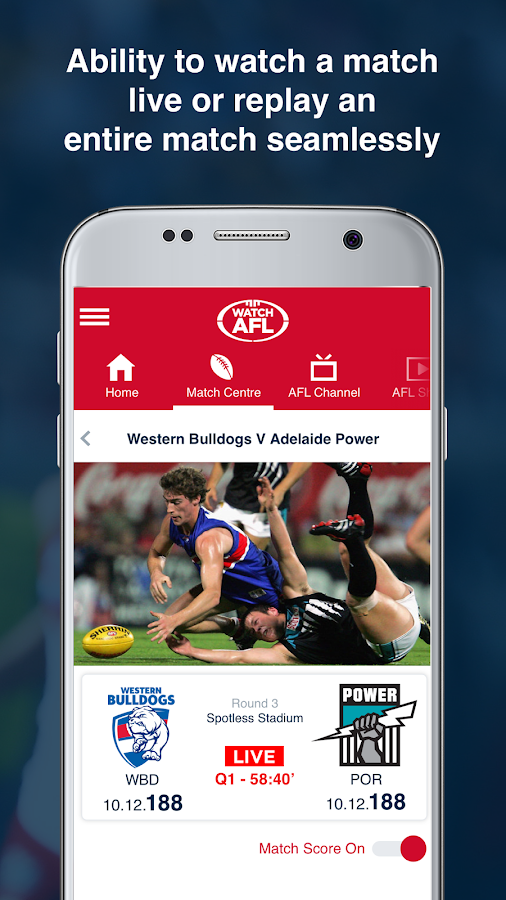 Watch AFL- screenshot