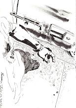 Photo: 看守2012.07.10鋼筆 人犯我來守 一步一步走 日夜皆巡邏 舊時稱看守