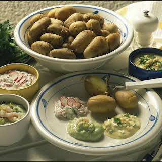 Jacket Potatoes with Dips.