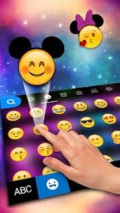 Galaxy Minny Keyboard Theme - náhled