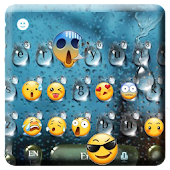 Emoji Rain Drops Keyboard Theme