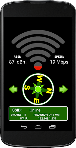 android WIFI SIGNAL QUALITY Screenshot 1