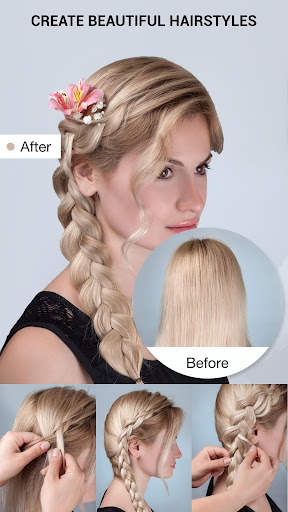 School Hairstyles Step By Step, Braiding Hairstyle 1.0.4 screenshots 1