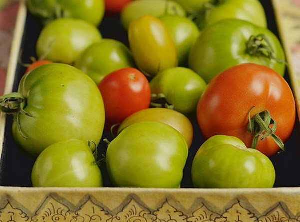 Inspect the green tomatoes for bruises, cracks or any damaged spots. If they are...