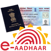 e-Aadhaar,Passport, PAN Card