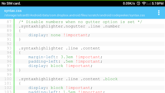 Code Peeker Lite Source Reader- screenshot thumbnail