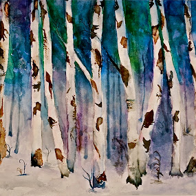 mystic forest by Gloria Warren - Painting All Painting