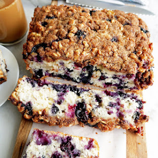 Blueberry Coffee Cake with Brown Sugar-Walnut Crumble.