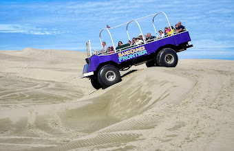 Photo: Half of our group exploring theOregon Dunes National Recreation Area in a dune buggy