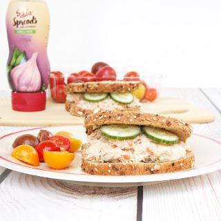Mayo-Free Tuna Hummus Sandwich