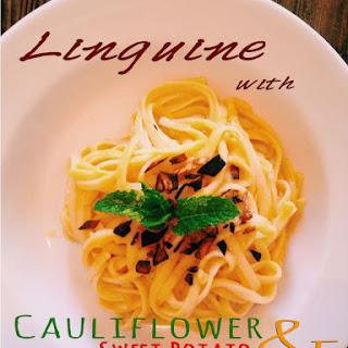 Linguine with Cauliflower Sweet Potato Cream Sauce