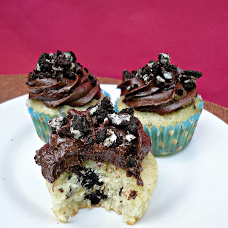 Cookies and Cream Cupcakes with Milk Chocolate Frosting