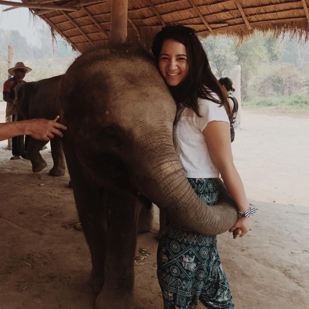 Elephant hugs are the best hugs!