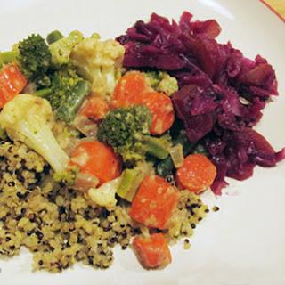 Broccoli Cauliflower Veggie Divan.