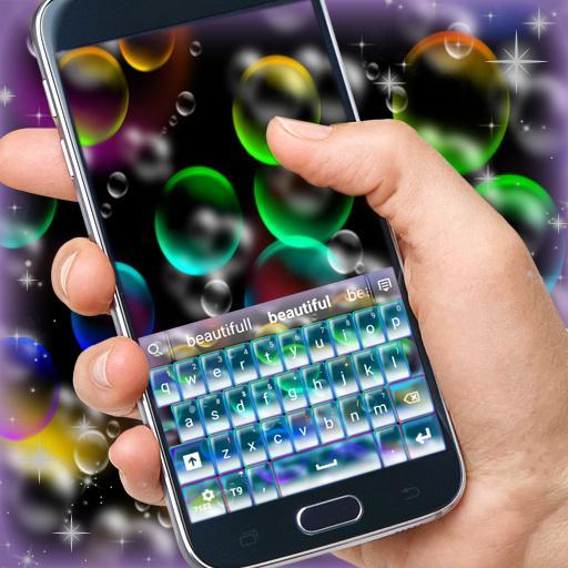 顏色的氣泡鍵盤 個人化 App LOGO-硬是要APP