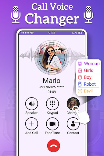 Call Voice Changer Male To Female screenshot 3