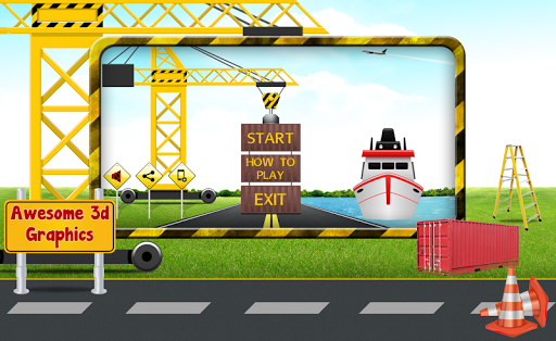 3D Cargo Crane Transporter