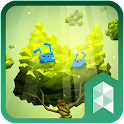 Rabbits and tree theme icon