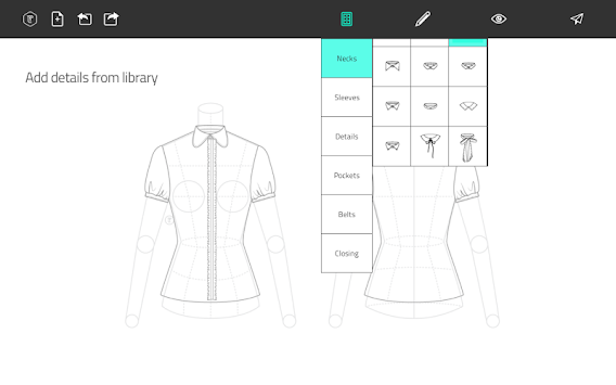 Fashion Design Flat Sketch APK screenshot thumbnail 8