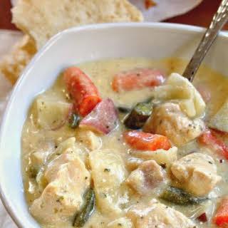 Crock Pot Creamy Chicken Stew.