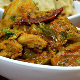Achari Baingan Murg | Chicken & Brinjal Curry